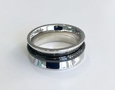 40% SALE! Genuine APM Monaco SS & Black Ceramic Ring A14784DC-56 RRP $136.00