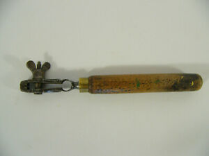 Ancien étau a main de bijoutier horloger pince pour collection antique tool