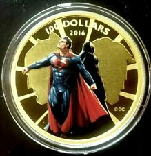 2016 Batman vs Superman 14K Gold Coin ROYAL CANADIAN MINT - $100 Ltd /3000