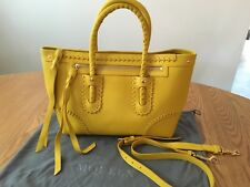 Alexander McQueen Small Yellow Falk Whipstitched Bag/Shoulder Strap $1465 AUTHEN