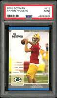 Aaron Rodgers Rookie Card 2005 Bowman #112 PSA 9