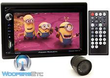 "pk POWER ACOUSTIK PD-651B 2-DIN 6.2"" TV CD DVD MP3 BLUETOOTH USB SD + CAMERA NEW"