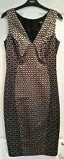 BNWT gold & black tailored shift dress from Next, size 8. Evening wedding!