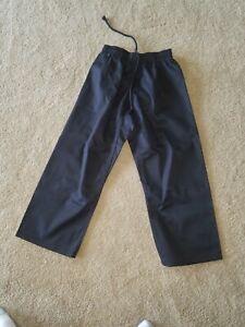 "ATA Martial Arts Taekwondo Karate Black Pants Child Size 1 70-90 pounds 22""-23"""