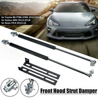 2X Front Hood Bonnet Gas Strut Lift Support Kit For Toyota 86 FT86 GT86