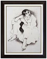 R C Gorman Lithograph Original SIGNED Rare Young NATIVE AMERICAN Women Art R.C
