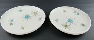 "2 Franciscan Starburst 8"" Salad Plates Atomic Mid-Century"