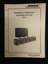 BOSE Powered Companion Speaker System CS-6 Service Manual OEM ☆ EXC ☆