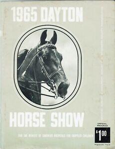 1965 Dayton Ohio Horse Show Program Booklet, 132 pgs,B/W,GC