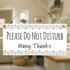 PLEASE DO NOT DISTURB Many Thanks - Hanging Door Sign Privacy Notice Be Quiet