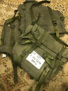 military army clansman radio spares bag used