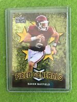 BAKER MAYFIELD ROOKIE CARD BROWNS JERSEY #6 OKLAHOMA 2018 Leaf Draft GOLD #FG-01