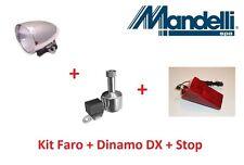 Kit Faro Cromato + Dinamo DX in Alluminio + Stop per bici 20-24-26-28 City Bike