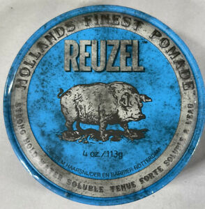 Reuzel Blue Pomade Strong Hold Water Soluble 4 oz. Hair Wax & Pomade