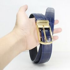 Genuine Crocodile Alligator Belly Skin Leather Mens Belt WITHOUT JOINTED #NB0507
