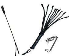 SPECIAL DEAL CAT TAILS WHIP, BLACK FLEX RIDING CROP, LEATHER WHIPS, HORSE CROP
