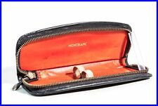MONTBLANC Leather case/ Etui for 2 Fountain pens Ballpoint / bright red inside