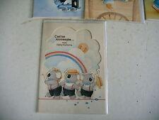 lot 5 cartes anniversaire neuves + enveloppes sous sachet plastique - lot 3