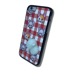 Squishy Mouse Animal Phone Cover for iPhone iPod Samsung 4 5 6 7 5th 6th case