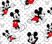 FAT QUARTER  DISNEY MICKEY MOUSE RELAXED FABRIC COMIC STRIP 100% COTTON QUILTING