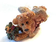 Vintage Boyds Bears & Friends Bearstone Hope Angel the Bear w/ Wreath Ornament