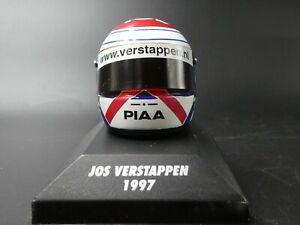 Lot of 2 x Minichamps 1:8 helmets Jos Verstappen 1997 & Jacques Villeneuve 1995