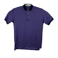 Polo Ralph Lauren Golf Mens Purple Blue Golf Polo Shirt Size Medium