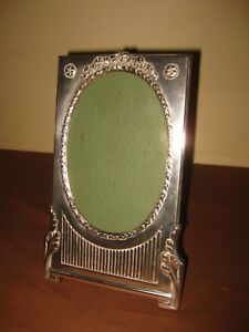 ANTIQUE EARLY GEORGIAN SILVER PLATE PICTURE FRAME CADRE RAHMEN 19th