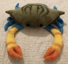 "FAO Schwarz Colorful Crab Large Plush Toys R Us Crustacean 17"" Rare HTF VGUC"