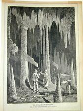 Hasel Höhle Dinkelberg Wiesental Schwarzwald Aßmus Holzstich 1879