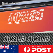 2 x Boat Rego Stickers Decals 150mm High Registration Letters Numbers Marine