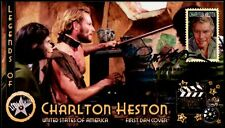 4892 Charlton Heston... 2014 Hollywood Legend... Planet of the Apes FDC #P01