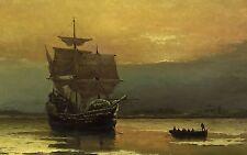 Mayflower Pilgrims 1620 Landing 24 x 15 inch Art Quality Print