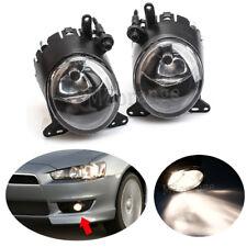 2X Pair Front Bumper Driving Fog Light Lamp For Mitsubishi Lancer 2008 2009-2014
