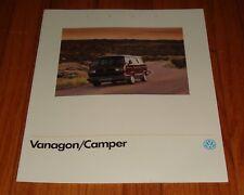 Original 1990 Volkswagen VW Vanagon & Camper Sales Brochure