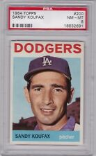 1964 Topps #200 SANDY KOUFAX (HOF) PSA 8 NM/MT Los Angeles DODGERS  - CENTERED!