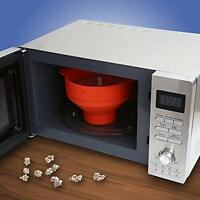 Microwave Oven Silicone Foldable Popcorn Popper Maker Collapsible Bowl Kitchen
