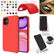 Silicone Case For Apple iPhone 11 Pro Max XR XS X 6 7 8 Shockproof Candy Cover