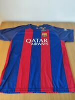 BNWT 2016-2017 Barcelona Home Shirt Jersey with Messi 10 printing size L