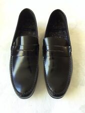 NEW PAUL SMITH BLACK LEATHER LOAFER SHOES SIZE 9  MADE IN ITALY