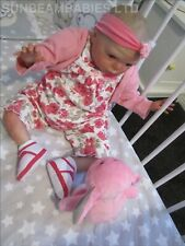 "REBORN DOLL 21"" BOUNTIFUL BABY GRACIE BY DAN ARTIST 6yr AT SUNBEAMBABIES & GIFT"
