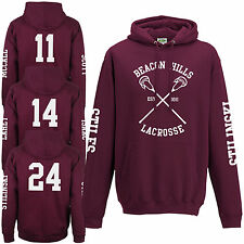 Beacon Hills Lacrosse Hoodie - Teen Wolf Stilinski Lahey McCall Sleeve Hoody Top