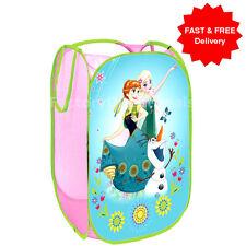 Anna & Elsa Pop Up Mesh Cesto Cesto per biancheria Borsa Bin giocattolo Tidy Storage Kids Girl