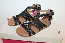 SO Girl's Stagehand Black Sandals Shoes Girl Size 13 NEW