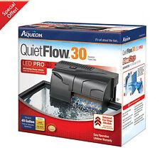 30 GALLON Power Filter 200 GPH Aqueon QuietFlow Fish Tank Aquarium Clean Water