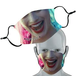 Inspired By Harley Quinn Elastic Face Mask Double Layer Washable Face Cover