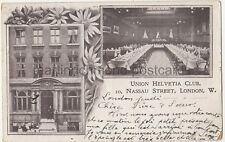 Union Helvetia Club, Nassau Street, London Postcard B759