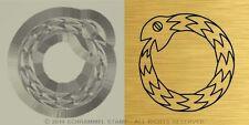 #R23 GNOSTICISM Religion OUROBOROS Gold/Metal HAND STAMP Alchemist Hermeticism