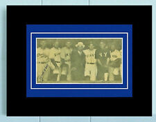 Zack Wheat Signed JSA COA Cut Group Photo Auto Autographed Framed & Matted Zach