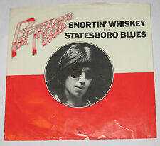 "Pat Travers Band 7"" 45 PICTURE SLEEVE ONLY Snortin Whiskey b/w Statesboro Blues"